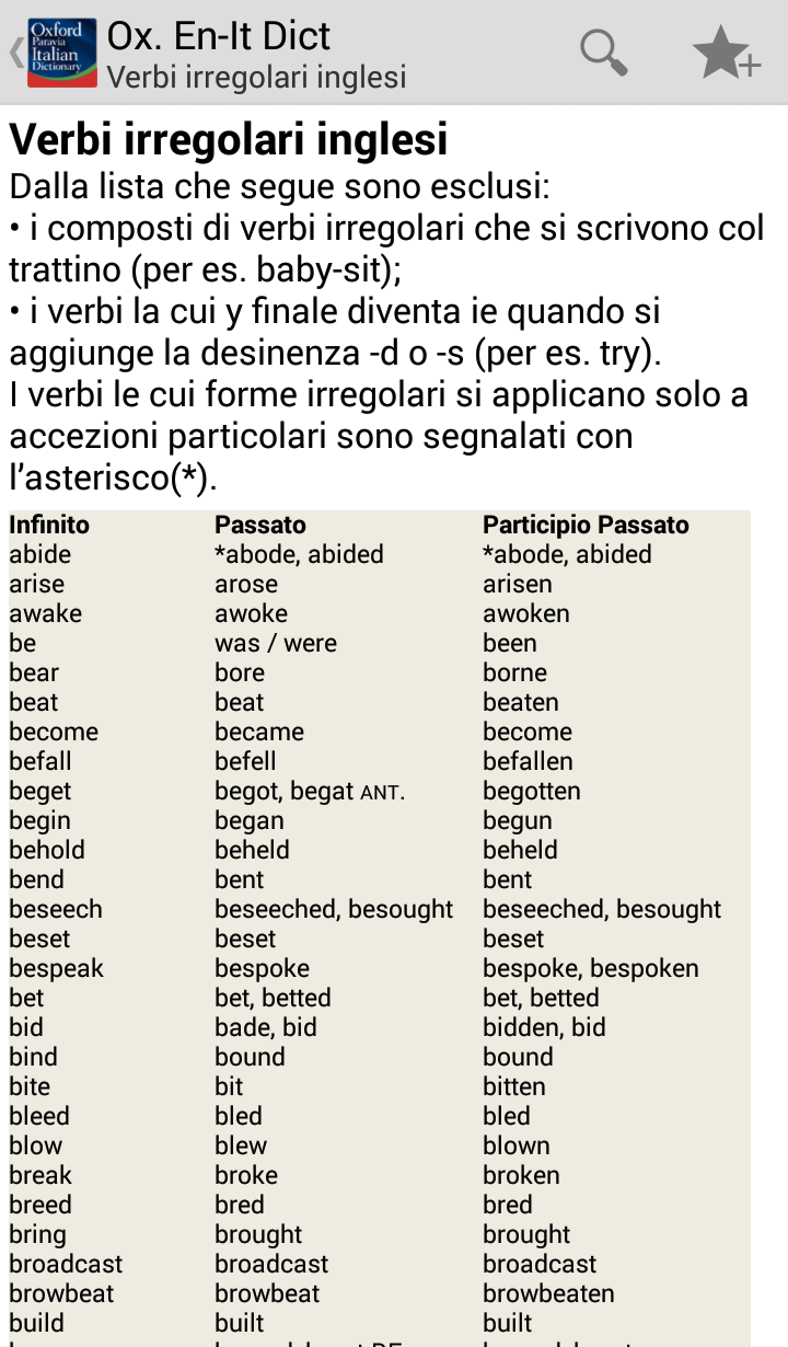 Oxford-Paravia Italian Dictionary Screenshot 19