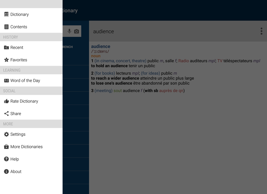 Oxford-Hachette French Dictionary Screenshot 5