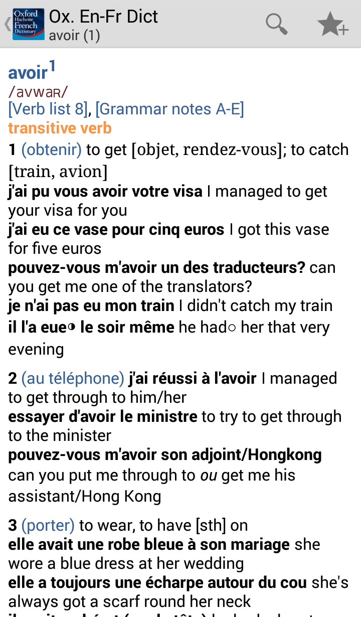 Oxford-Hachette French Dictionary Screenshot 21