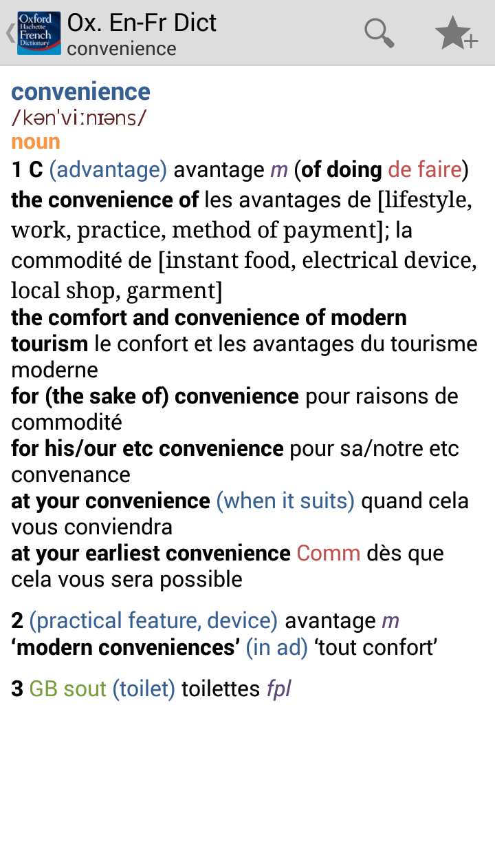 Oxford-Hachette French Dictionary Screenshot 15