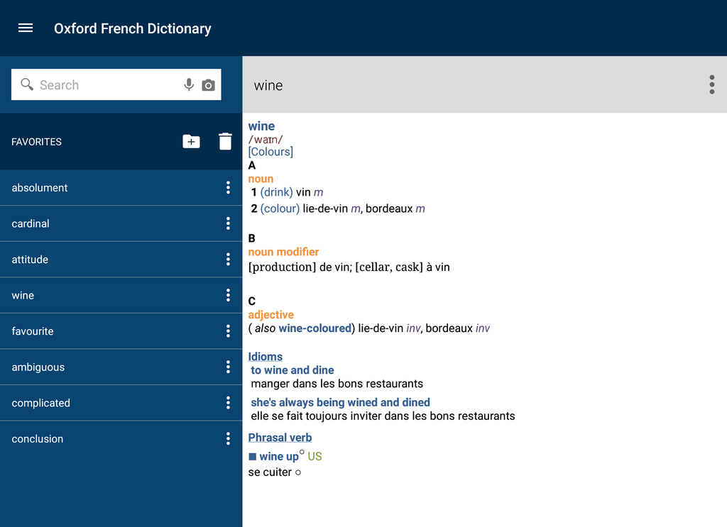 Oxford-Hachette French Dictionary Screenshot 7