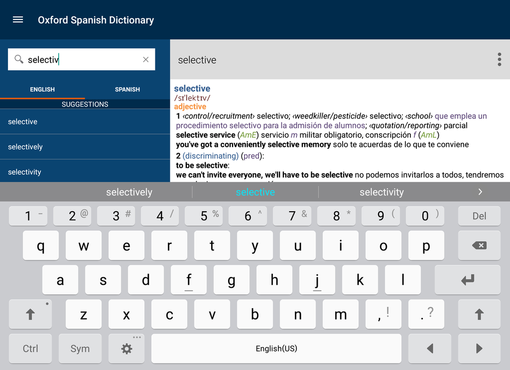 Oxford Spanish Dictionary Screenshot 17