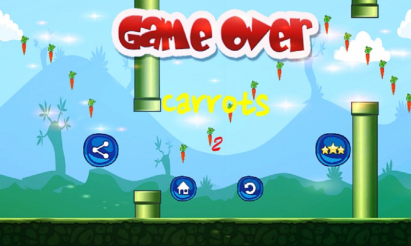 Bunny Flap : Eat The Carrots Screenshot 3