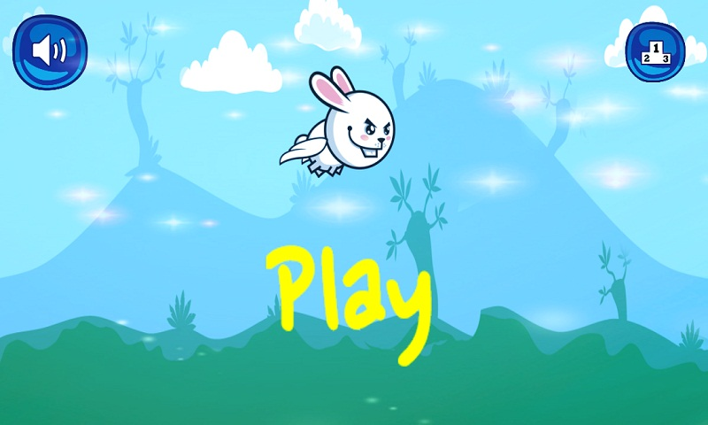 Bunny Flap : Eat The Carrots Screenshot