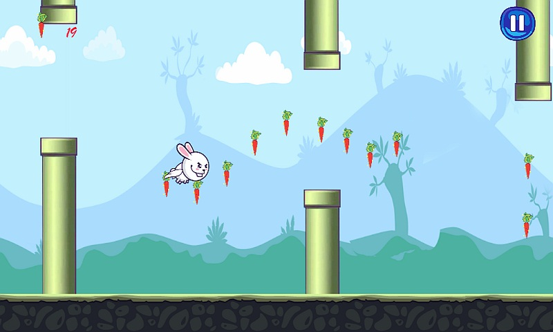 Bunny Flap : Eat The Carrots Screenshot 5
