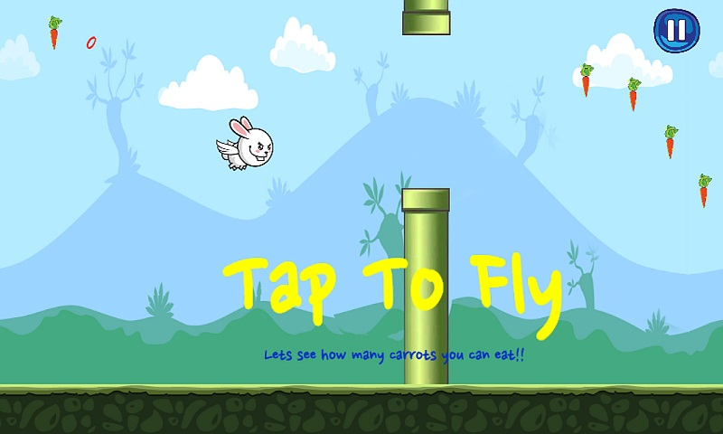 Bunny Flap : Eat The Carrots Screenshot 2