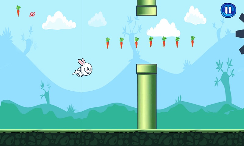 Bunny Flap : Eat The Carrots Screenshot 4