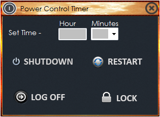 Power Control Timer 1.0 Screenshot