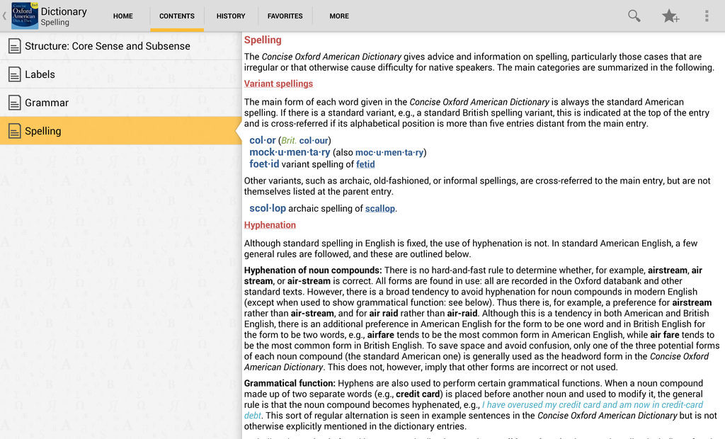 Concise Oxford American Dictionary & Thesaurus Screenshot 8
