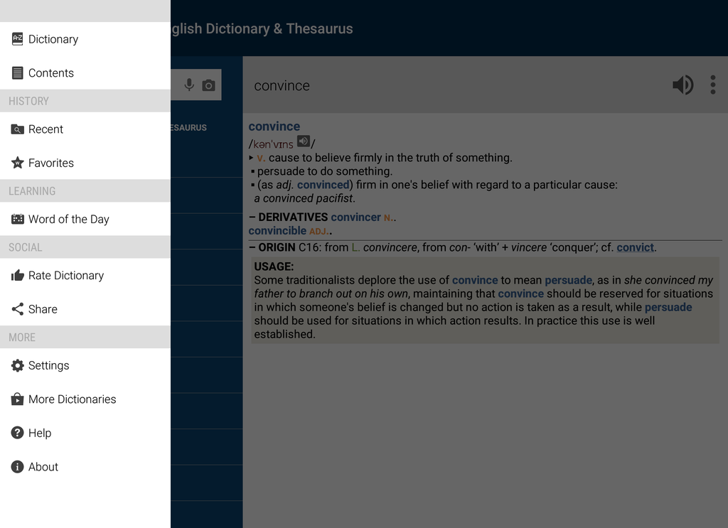 Concise Oxford English Dictionary & Thesaurus Screenshot 8