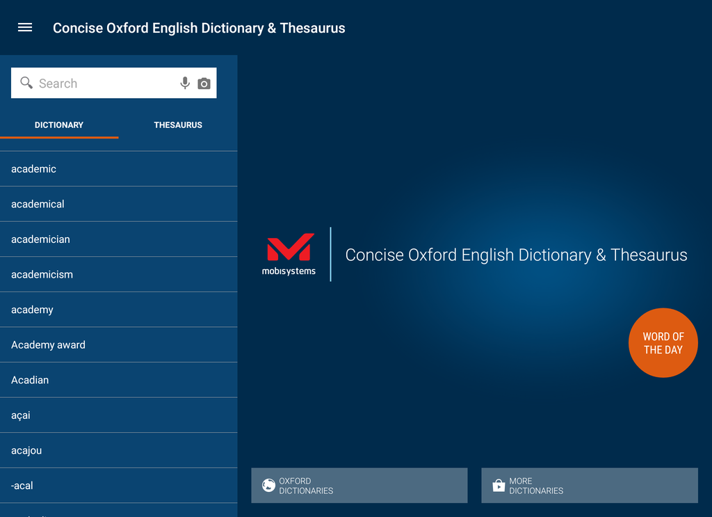 Concise Oxford English Dictionary & Thesaurus Screenshot 5
