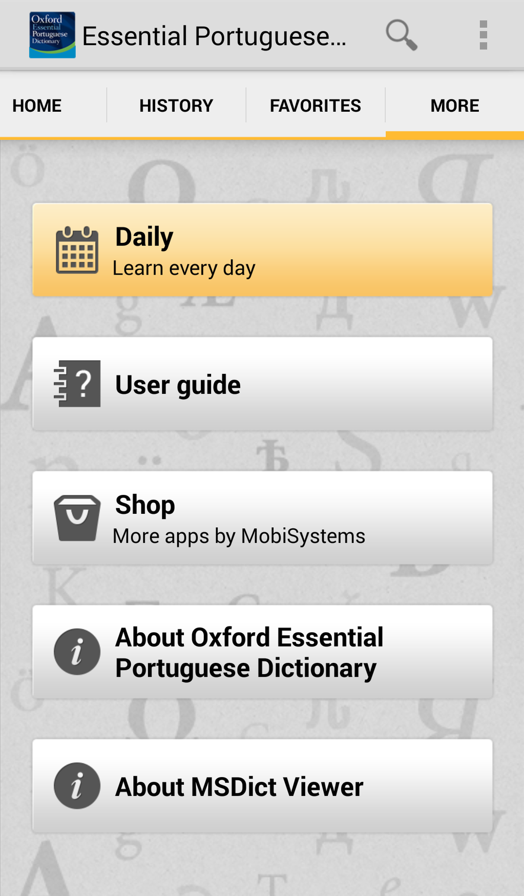 Oxford Essential Portuguese Dictionary Screenshot 5