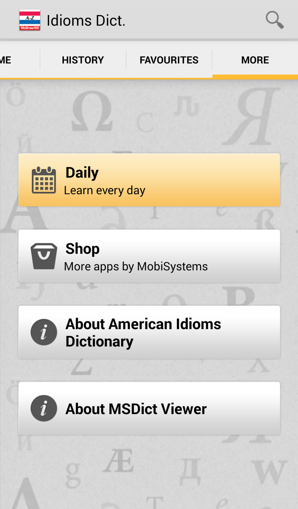 American Idioms Dictionary Screenshot 5