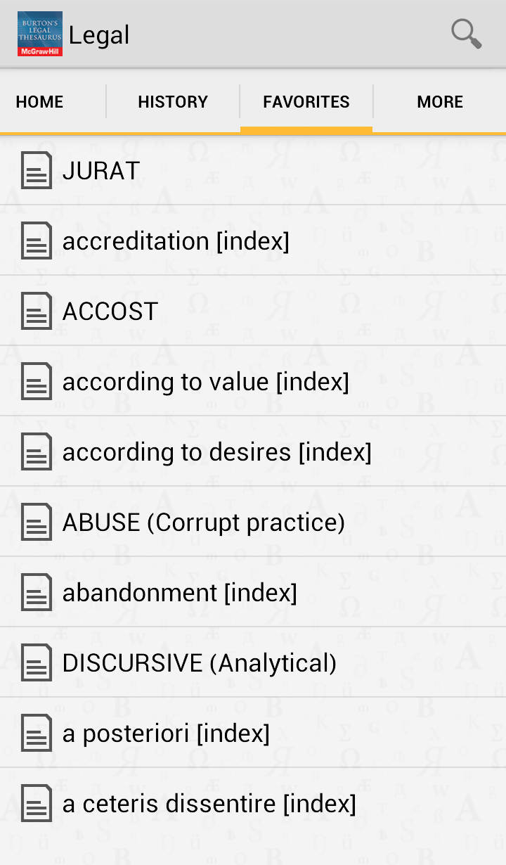 Burton's Legal Thesaurus 2013 Screenshot 4