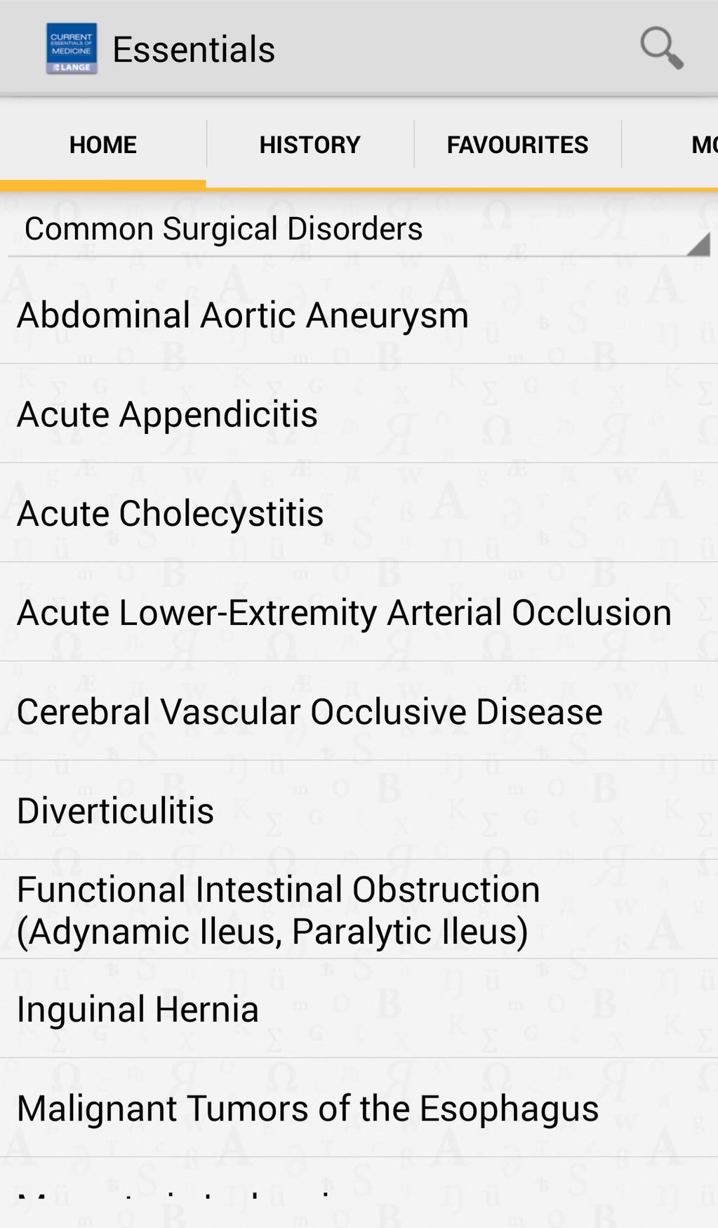 Current Essentials of Medicine Screenshot 3