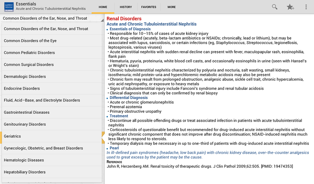 Current Essentials of Medicine Screenshot 6