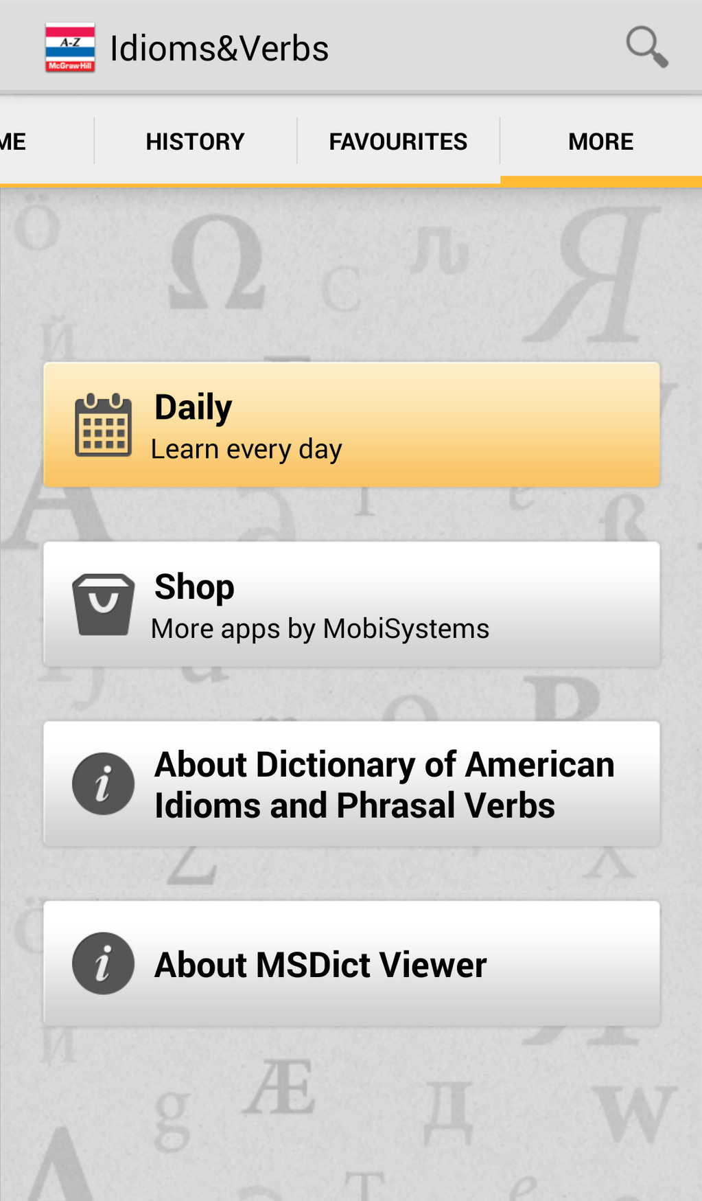 Dictionary of American Idioms and Phrasal Verbs Screenshot 5