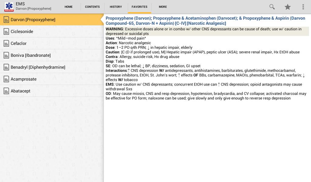 EMS Pocket Drug Guide Screenshot 8
