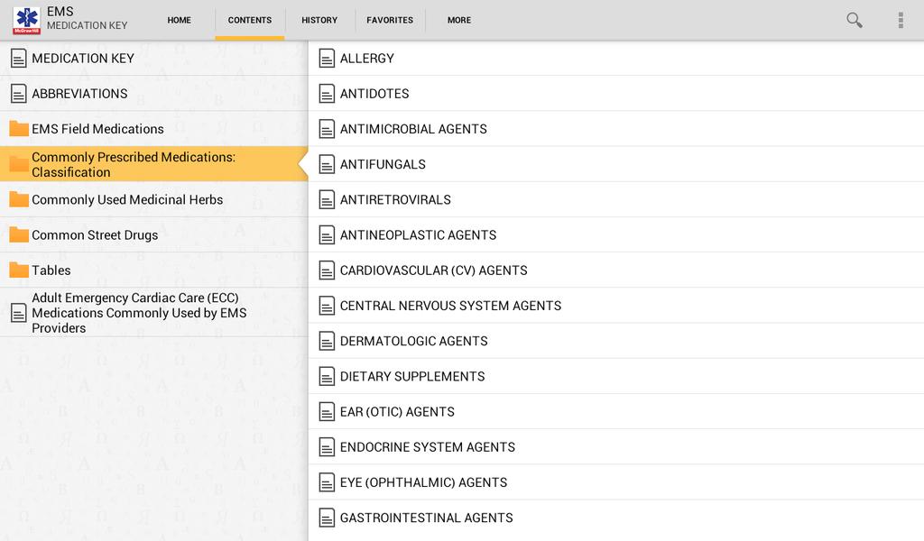 EMS Pocket Drug Guide Screenshot 7