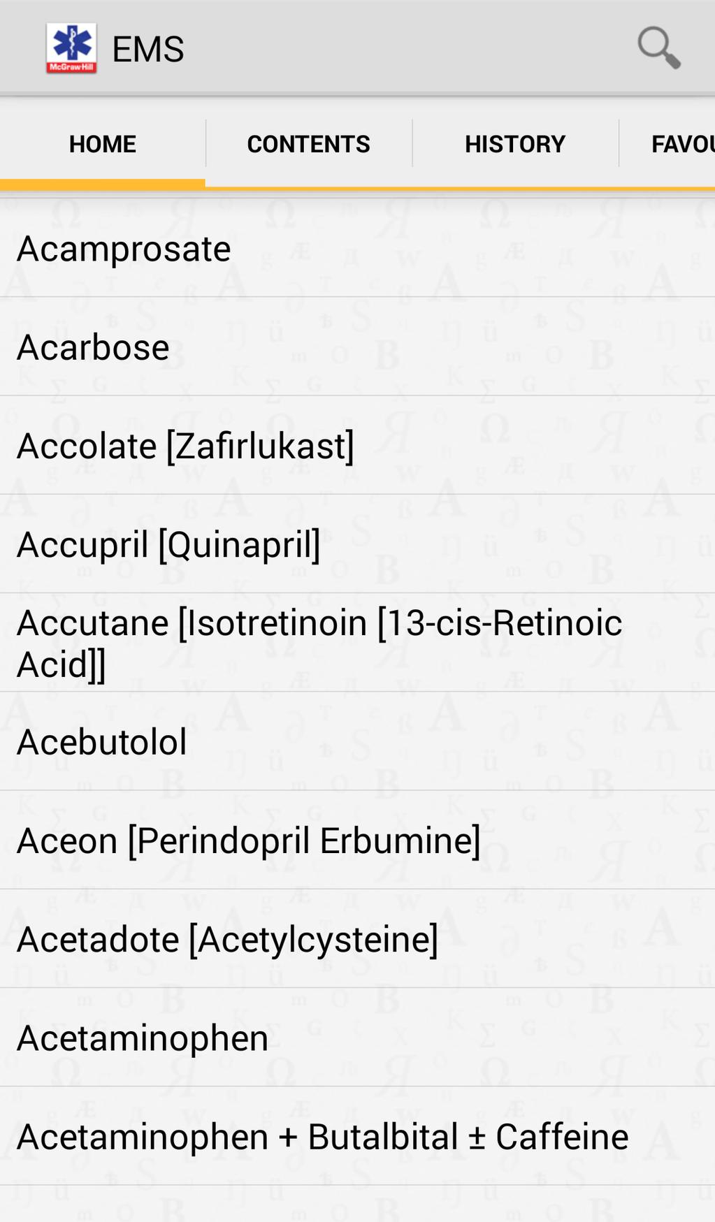 EMS Pocket Drug Guide Screenshot 2