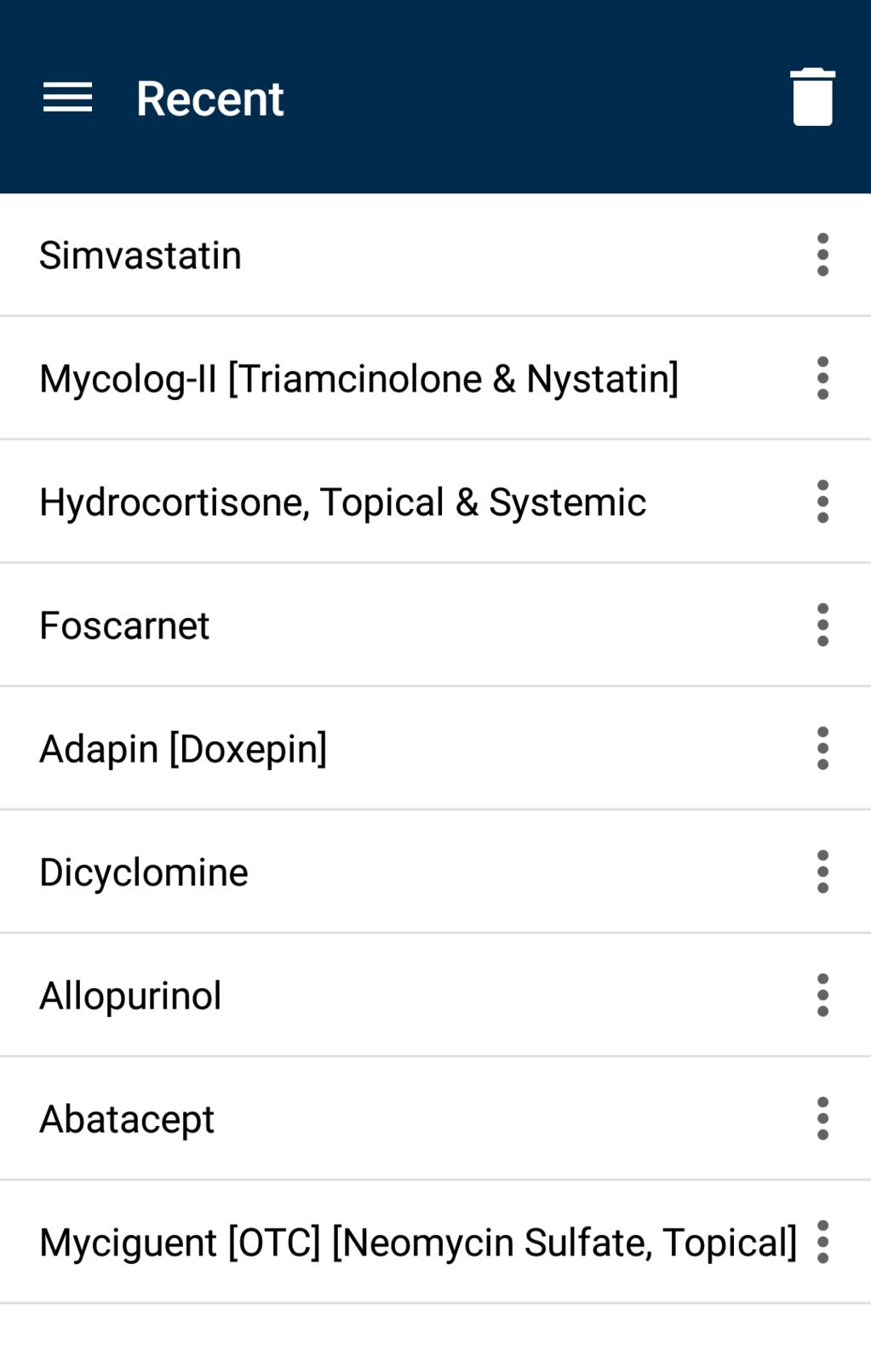 EMS Pocket Drug Guide Screenshot 15