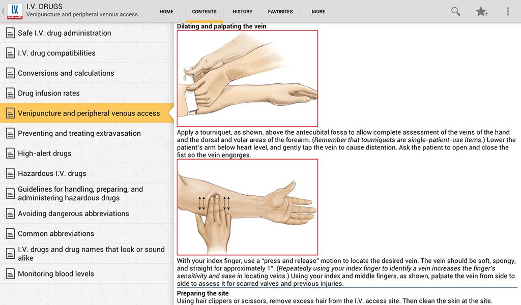 I.V. Drug Handbook Screenshot 7