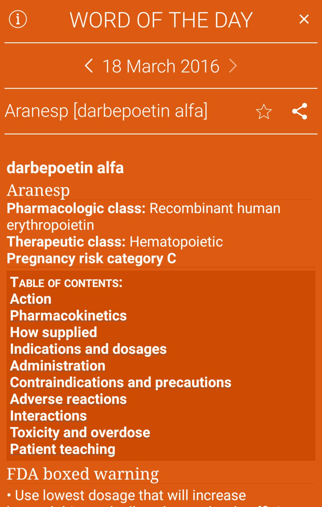 I.V. Drug Handbook Screenshot 12
