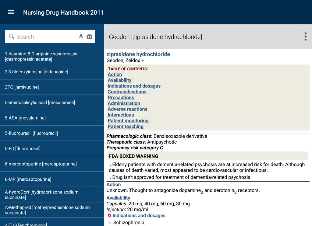 Nurse's Drug Handbook Screenshot 16