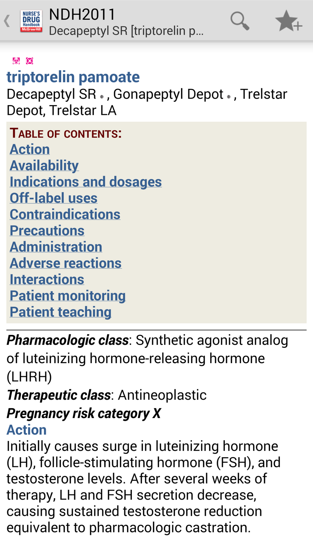 Nurse's Drug Handbook Screenshot