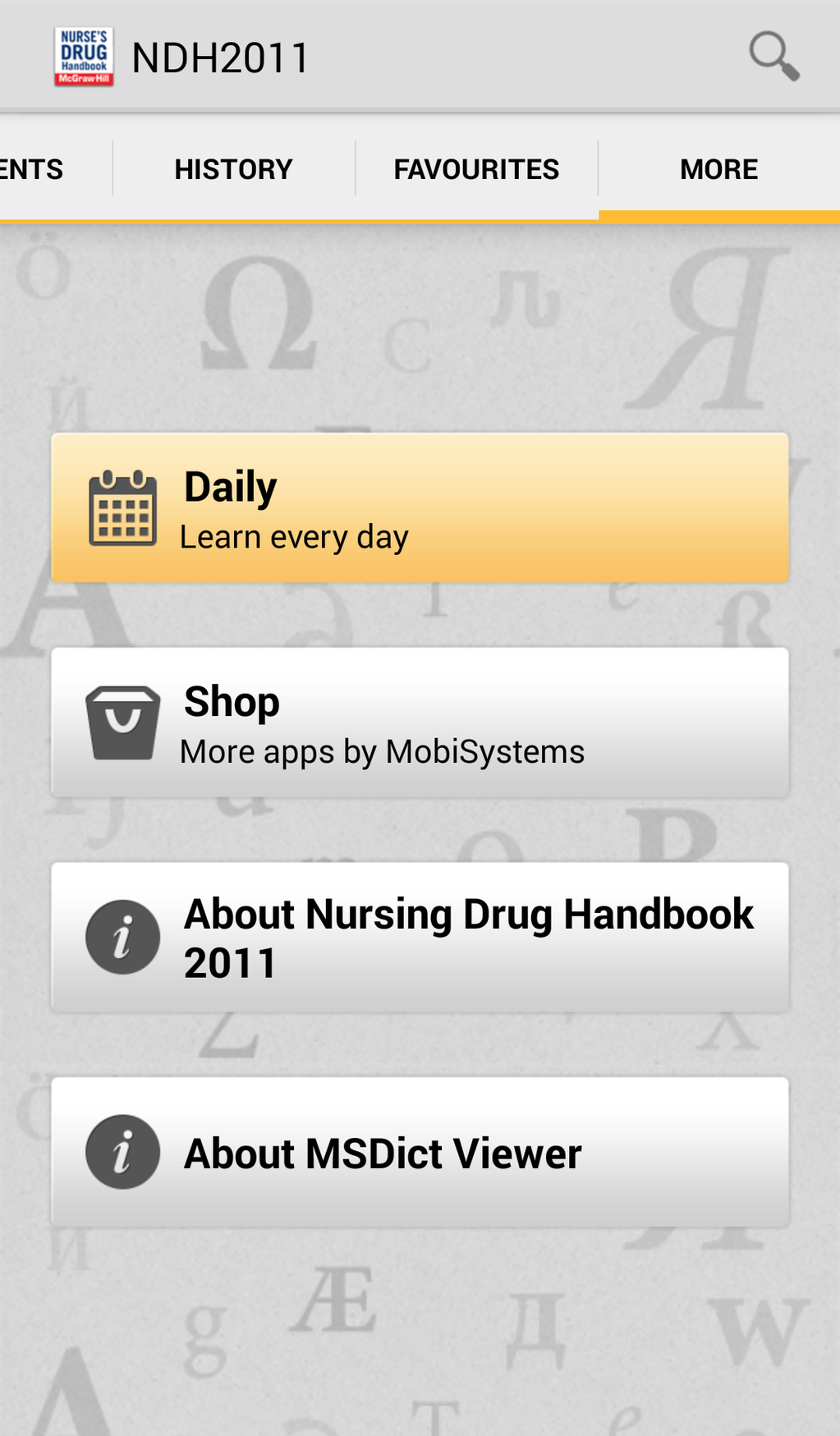 Nurse's Drug Handbook Screenshot 5