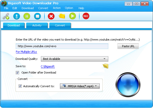 Bigasoft Video Downloader Pro Screenshot