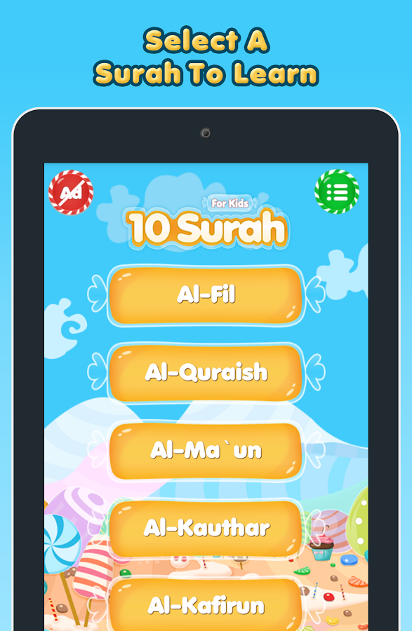 10 Surah for Kids Word By Word Screenshot 2