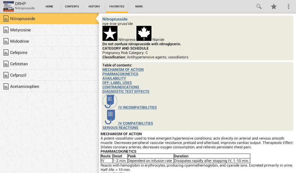 Mosby's Drug Reference for Health Professions Screenshot 6