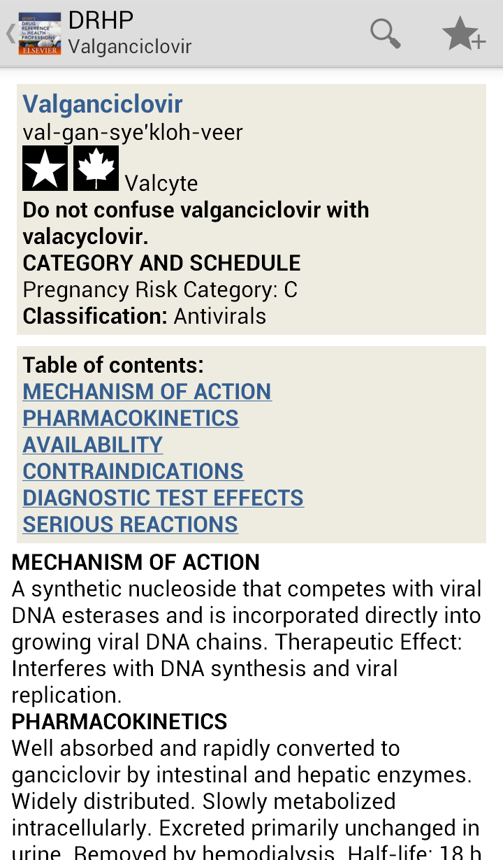 Mosby's Drug Reference for Health Professions Screenshot 3