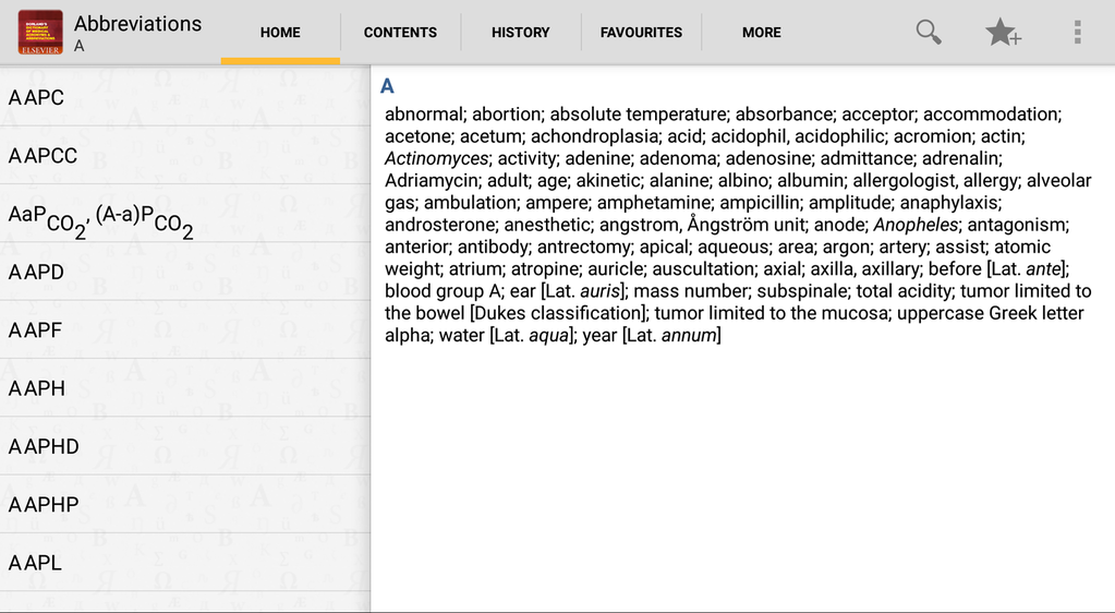 Dorlands Dictionary of Medical Acronyms and Abbriviations Screenshot 7