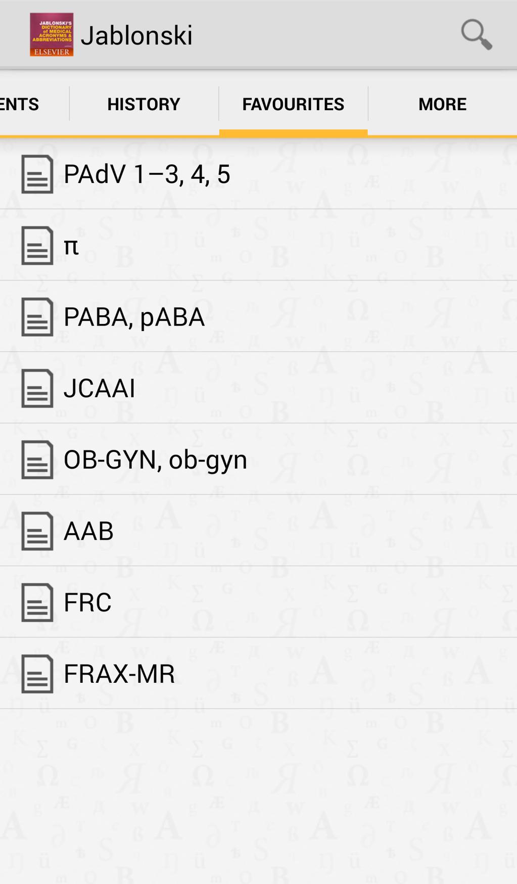 Medical Acronyms And Abbreviations Screenshot 9