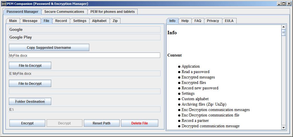 PEM Companion Screenshot 3