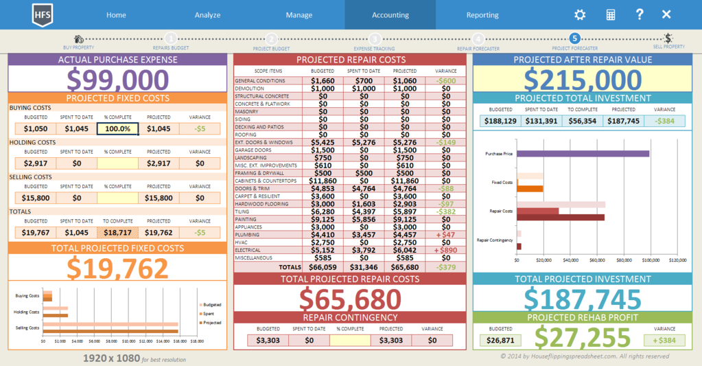 House Flipping Spreadsheet Screenshot 9