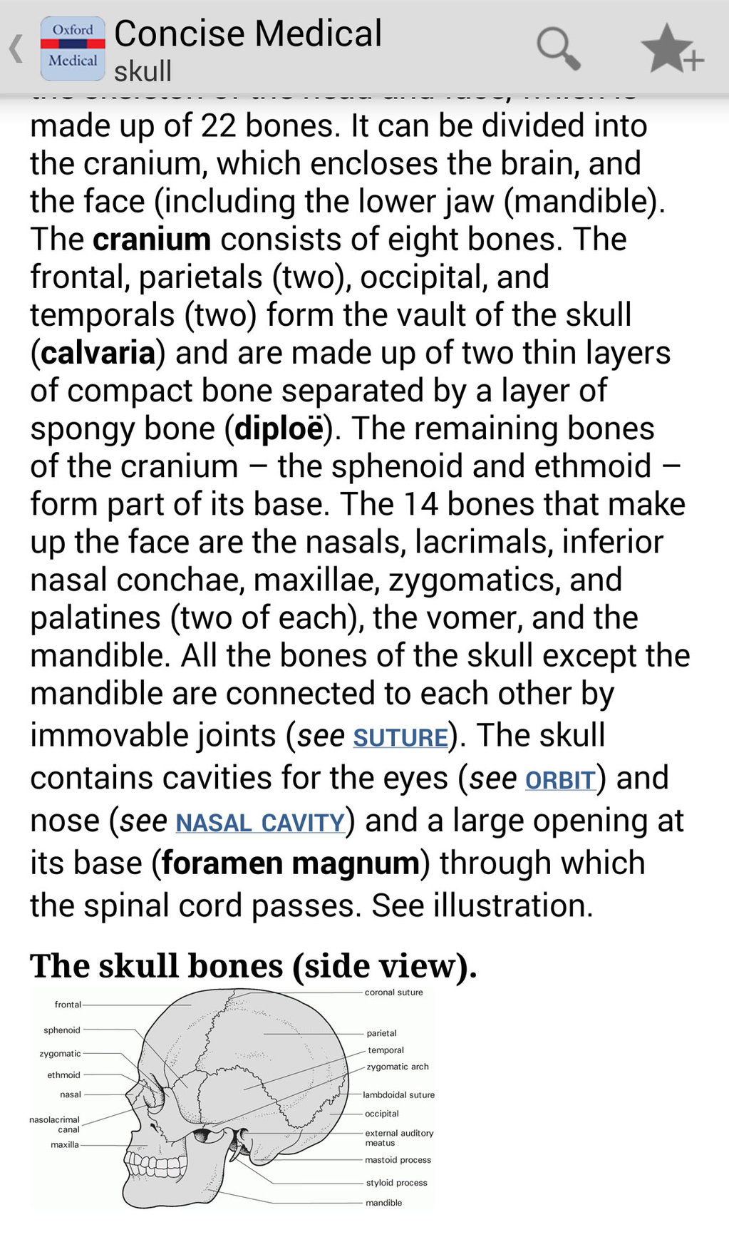 Oxford Concise Medical Dictionary Screenshot 5
