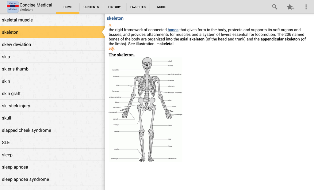 Oxford Concise Medical Dictionary Screenshot 6