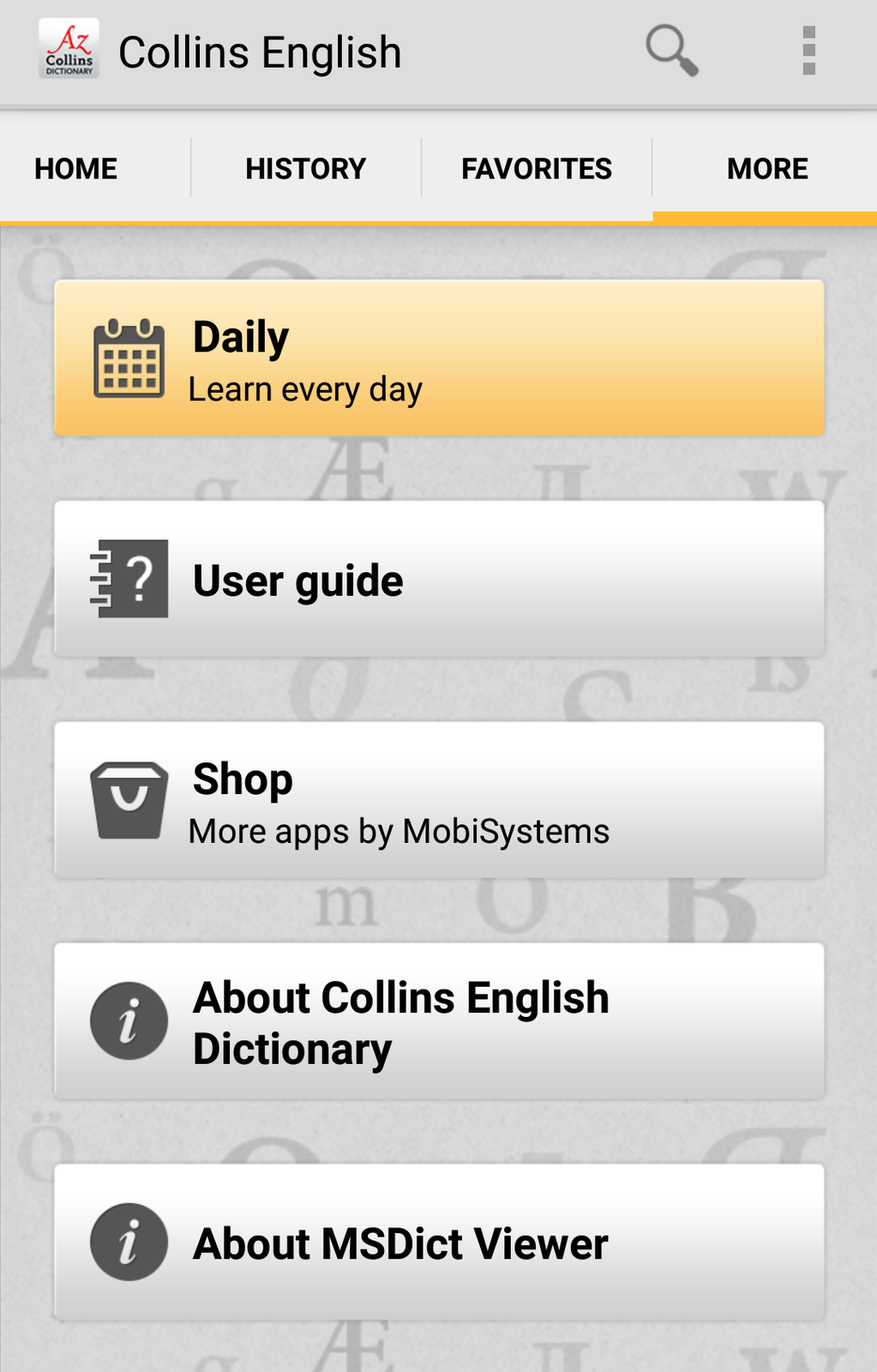 Collins English Free Dictionary Screenshot 11