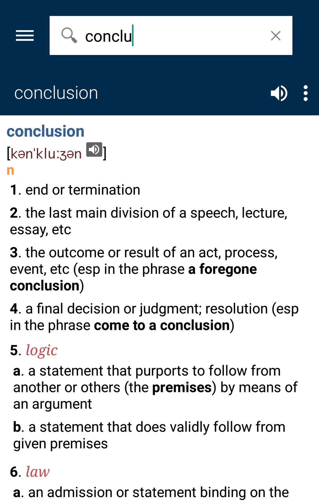 Collins English Free Dictionary Screenshot 2