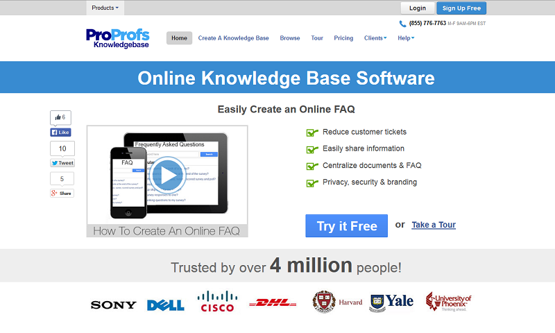 ProProfs Knowledge Base Software Screenshot