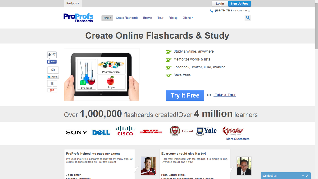 ProProfs Flashcard Maker Screenshot