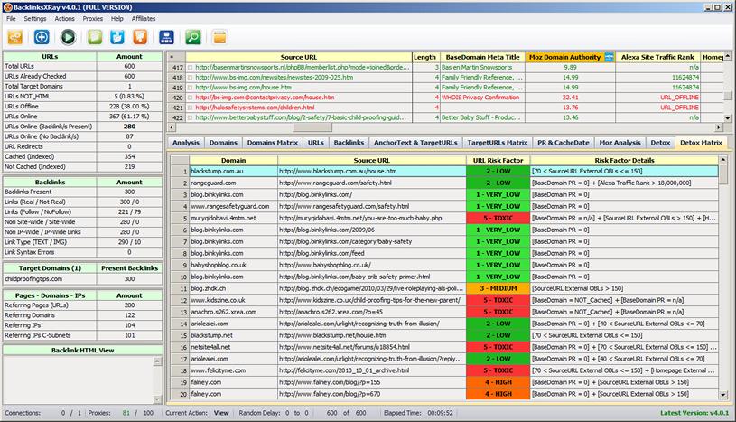 BacklinksXRay Screenshot 6