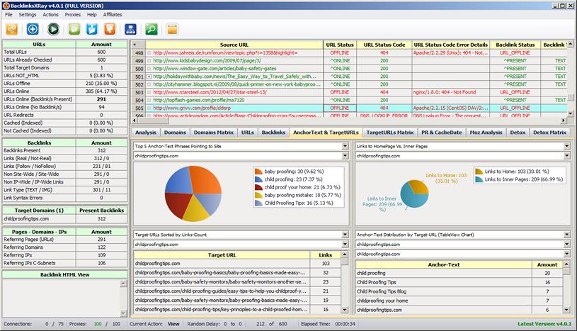 BacklinksXRay Screenshot 2