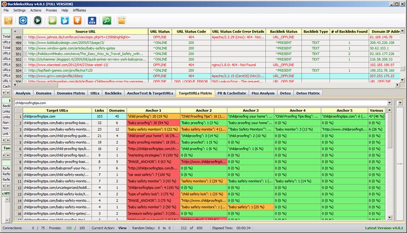 BacklinksXRay Screenshot 3