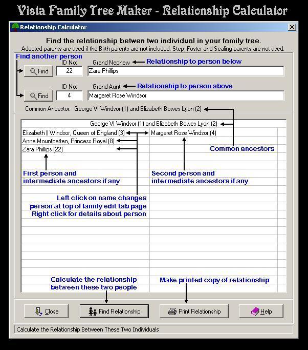 Vista Family Tree Maker Screenshot 12