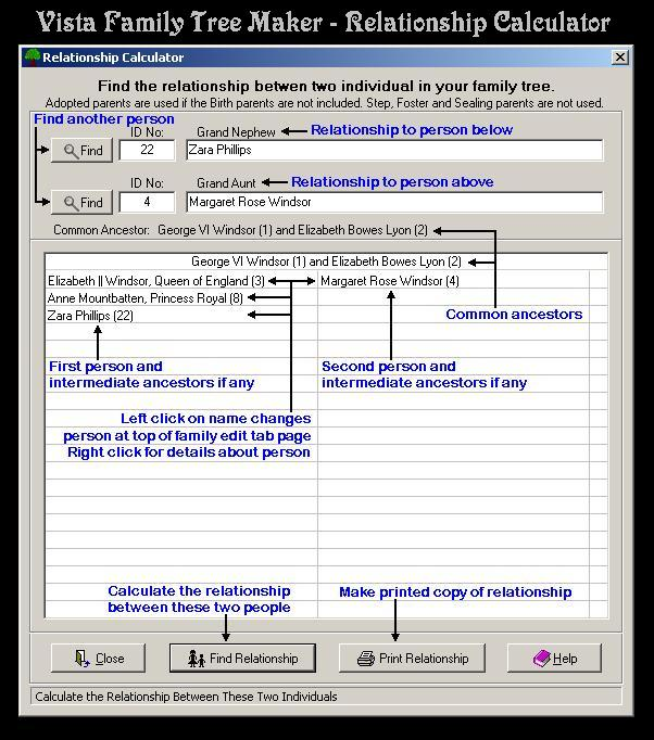 Vista Family Tree Maker Screenshot 6