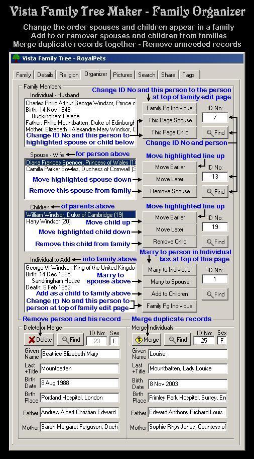 Vista Family Tree Maker Screenshot 7